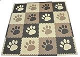 Tadpoles 16 Piece 16 Sqft Pawprint Playmat Set, Brown $24.99
