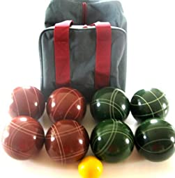 Premium Quality EPCO Tournament Set, Red and Green Bocce Balls - 110mm [Misc.]