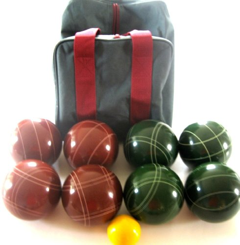 Premium Quality EPCO Tournament Set, Red and Green Bocce Balls - 110mm [Misc....