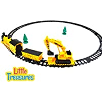 Construction Steam Engine Train Set Latest Style Toy Your Little Architect Is Going To Love The Exciting Yellow...