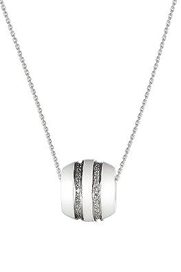 Coeur Collier Pendentif Femmes 1.00 Ct Blanc Diamant Or Sur Argent Chaîne Neuf