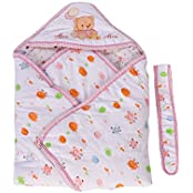 Mee Mee Baby Wrapper With Hood (Light Pink)