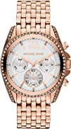 Michael Kors Pressley Chronograph White Dial Rose Gold-tone