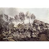 The Garden at Strawberry Hill, by William Pars (Print On Demand)