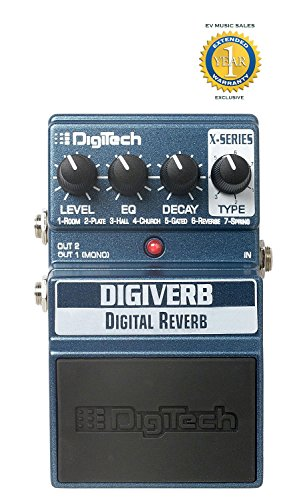 DigiTech XDV DigiVerb Digital Reverb Pedal