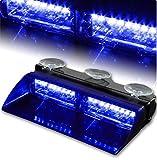 T Tocas® High Intensity LED Windshield Emergency Hazard Warning Strobe Lights - Blue