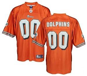 Miami Dolphins NFL Mens Team Replica Jersey, Orange by Reebok