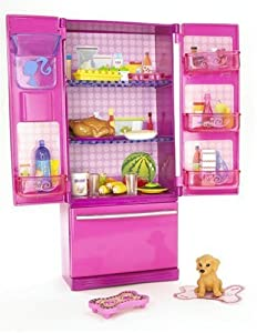 barbie n4898 accessori per la casa frigorifero amazon