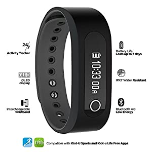 Jarv SMART BT Bluetooth 4.0 Activity Tracker and Smart Watch with OLED Display, G Sensor, Sleep Tracker and Smart Notifications for IOS Devices & Android Devices