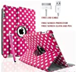 Pink with White spots, Leather 360 De...