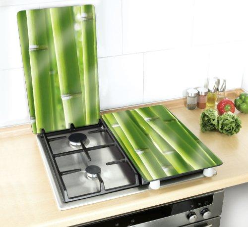 Wenko 2521350100 coprifuochi vetro universale bamboo set for Tipi di piani di casa