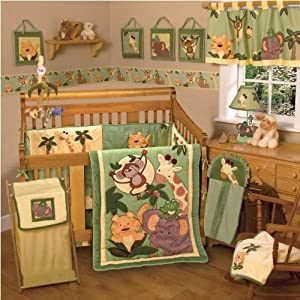 NoJo Jungle Babies 6 Piece Crib Bedding Set