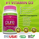 PURE Vitamin D3 5,000 IU per softgel/240 softgels by Dynamic Nutrition. All Natural, Safe and effective supplement that supports the Immune System, Bone, Muscle, Breast, Prostate and Dental Health for a Stronger and Healthier You.