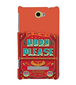 printtech Quotes Horn Please Back Case Cover for HTC Windows Phone 8S