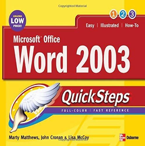 Microsoft Office Word 2003 Quicksteps