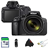 Nikon COOLPIX P900 Digital Camera with 83x Optical Zoom and Built-In Wi-Fi (Black) + 16GB Pixi-Basic Accessory Bundle