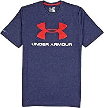 Under Armour Sportstyle Logo T-Shirt midnight navy-white-red - M