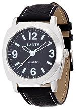 [ランツ]LANTZ 腕時計 アナログ表示 ブラック LA615BLK メンズ 【正規輸入品】