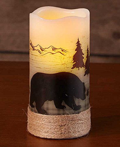 Bear Silhouette CandleLED Operated