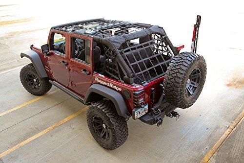 Rugged Ridge 13552.71 Black Cargo Net For 4-Door Jeep Wrangler