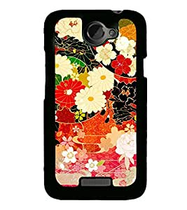 Flower Pattern 2D Hard Polycarbonate Designer Back Case Cover for HTC One X :: HTC One X+ :: HTC One X Plus :: HTC One XT