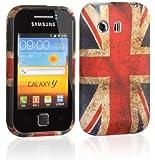 Voguecase TPU Silicone Shell Housse Coque Étui Protecteur Case Cover Pour Samsung Galaxy Y S5360 (Rétro UK Drapeau Vintage) + Gratuit stylet l'écran aléatoire universelle