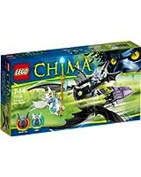 Lego Legends Of Chima - Playthèmes - 70128 - Jeu De Construction - Le Jet Ailé De Braptor