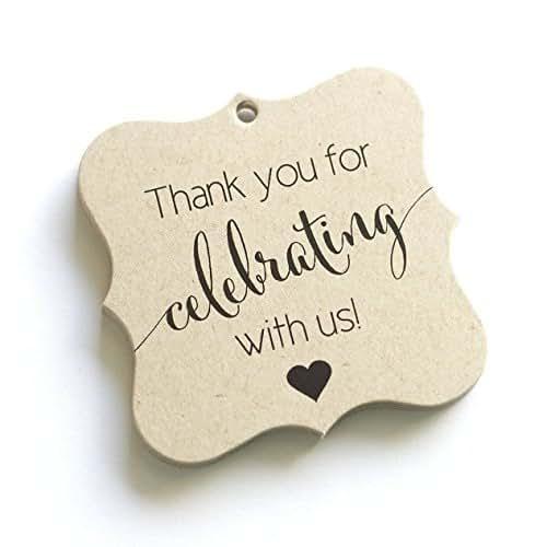 Amazon Wedding Gift Tags : Amazon.com: Thank You Favor Tags, Thank You Wedding Tags, Thank you ...