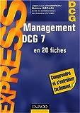 echange, troc Jean-Luc Charron, Sabine Sépari - Management DCG 7 en 20 fiches