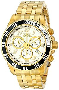 Invicta Men's 15506 Pro Diver Analog Display Swiss Quartz Gold Watch