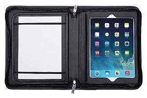 Wedo 5859115 Organizer Elegance für iPad Air, Tagungsmappe A5 mit herausnehmbarem Präsentationsständer, schwarz