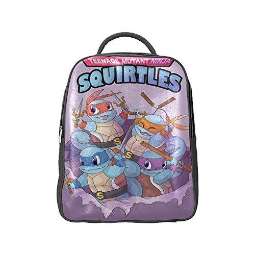 Navarro Teenage Mutant Ninja Turtles TMNT Unisex School High-grade PU Leather Backpack Bag Shoulder Bag