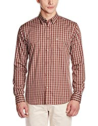 Park Avenue Men's Casual Shirt (8907251114499_PCSX00852-H5_40_Medium Brown)
