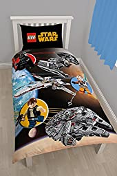 Character Lego Star Wars \'Space\' Panel Single Duvet Cover by Unknown