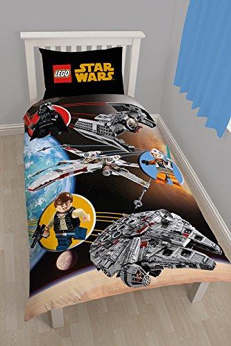 Personaggi mondo Lego Star Wars Spazio - Copripiumino Per Letto Singolo