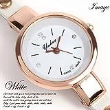 レディース 腕時計 三連ブレス ウォッチ ホワイト 白 女性用