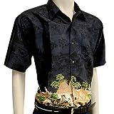 BEST SELLER Men's Short Sleeve Thai Silk Hawaiian Shirt - XL SIZE = ARMPIT TO ARMPIT 22 INCHES lengthy 29 INCHES