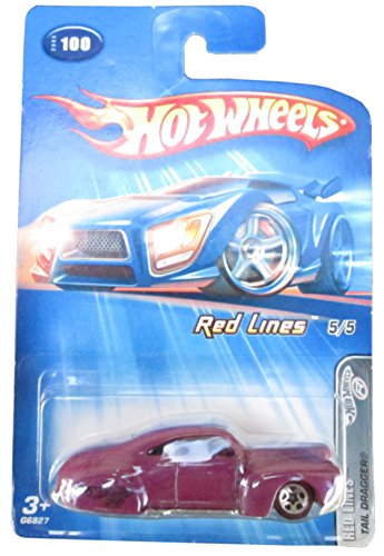 2005 Hot Wheels Red Lines 5/5 - Tail Dragger - Purple