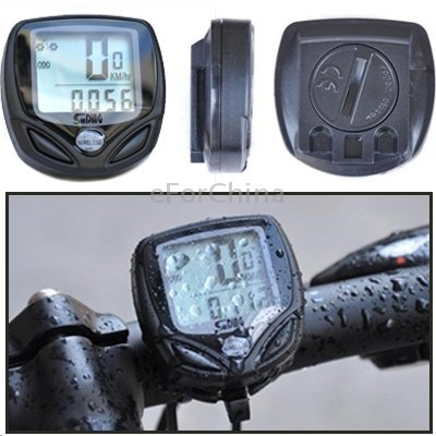 SD-548C 14 Function Black LCD Waterproof Wireless Multifunctional Bicycle Cycle Speedometer Bike Computer Odometer