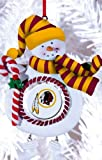 Washington Redskins Jolly Christmas Snowman Ornament
