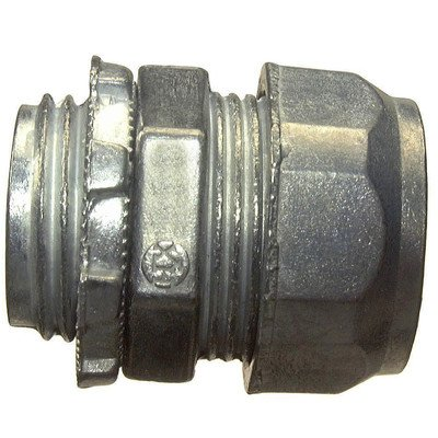 Halex 20210 5 Count 1/2-Inch Zinc Compression Connector