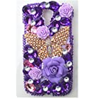 EVTECH(TM) 3D Handmade Rhinestong Series Crystal Diamond Rhinstone Design Bling Case Clear Cover for Samsung Galaxy S4 9500 9505 M919,SCH-R970X,Samsung Galaxy S4 C Spire,Samsung Galaxy S4 AT&T,Samsung Galaxy S4 Cricket,SGH-i337,SCH-R970C,Samsung Galaxy S4 LTE+,GT-i9506; I9506,SHV-E330S; SHV-E330K; SHV-E330L,Samsung Galaxy S4 LTE-A,Samsung Galaxy S4 Sprint,SPH-L720,SGH-M919,T-Mobile,Samsung Galaxy S4 U.S. Cellular,(not fit S4 active version)