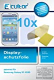 10x kristallklare Displayschutzfolie fr Samsung Galaxy S3 i9300 inkl. Rakel und Tuch