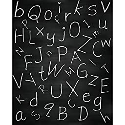 Chalkboard with Letters Printed Backdrop - 5ft x 6.5ft