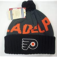 Philadelphia Flyers Cuffed Knit Hat with Pom by Mitchell & Ness KE33Z