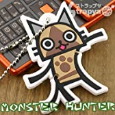 【MONSTER HUNTER】モンスターハンターおまとめイヤホンコードボールチェーン(アイルー)MH-OE-AR