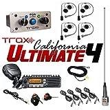 PCI Race Radios Trax California Ultimate 4 Seater Communication Kit (Color: None, Tamaño: none)