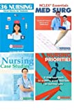 img - for Nursing Student Book Collection (Cheat Sheet, Priorities, MedSurg, Case Studies) book / textbook / text book