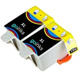 2 Compatible Colour Printer Ink Cartridges to replace Advent ACLR10 for use with Advent A10 All-in-One, AW10 Wireless All-in-One, AWP10 Wireless All-in-One