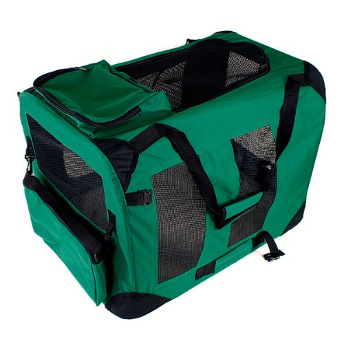 New Large Dog Pet Puppy Portable Foldable Soft Crate Playpen Kennel House - Green front-1031377